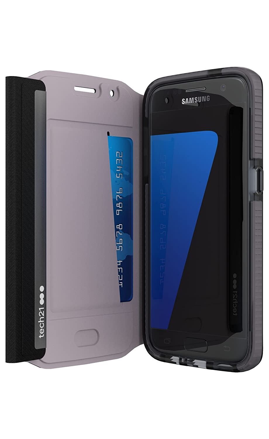 newest collection 43840 2f84e Tech21 Evo Wallet Case for Samsung Galaxy S7 (Black)