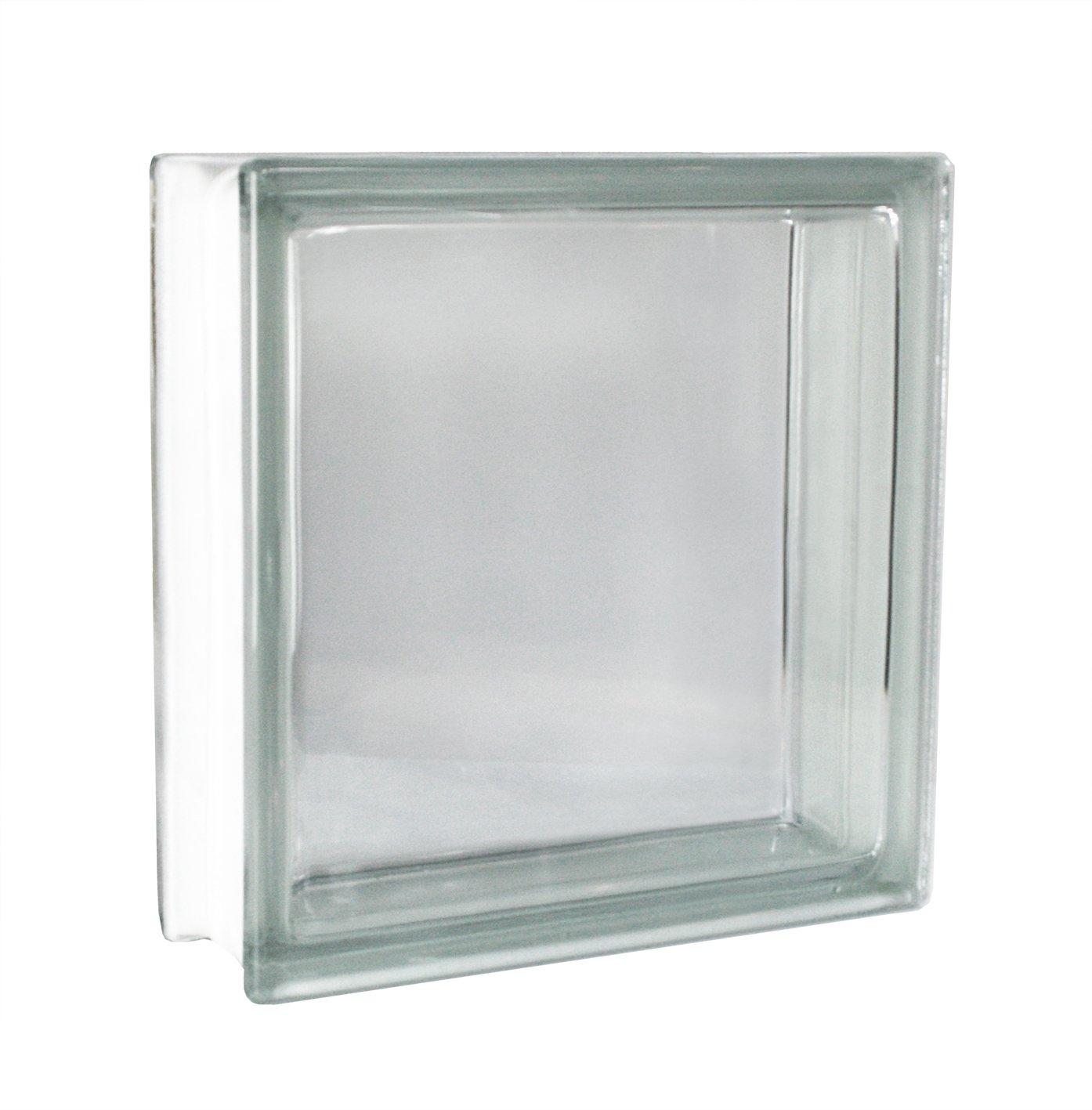 2 piezas FUCHS bloques de vidrio vista completa neutro 30x30x10 cm Fuchs Design