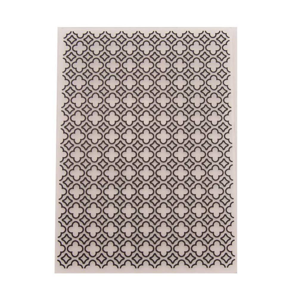 Shoresu Dabixx Cartella di goffratura di plastica, Modello di Stencil stampi Fai da Te Decorazione di Carta Album Foto di Carta Scrapbooking - Griglia