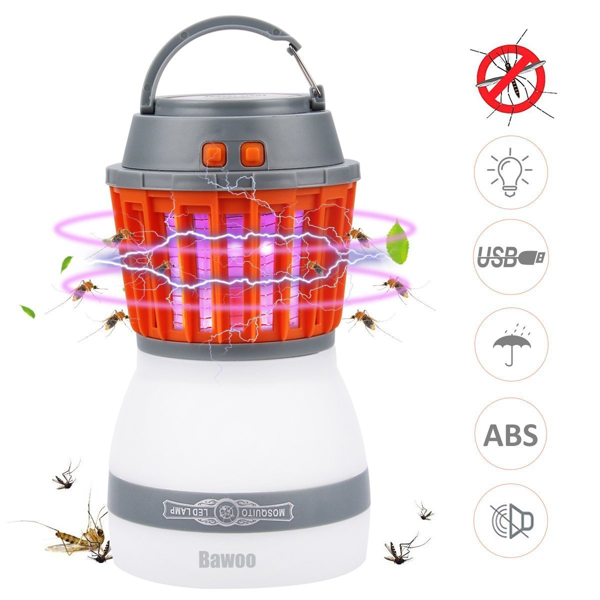 Rxment Bug Zapper Mosquito Repellent - USB Rechargeable Camping Lantern, Mosquito Killer Lamp, Insect Repellent Mosquito Zapper, Ideal for Replacing Mosquito Repellent Bracelet and Mosquito Dunk