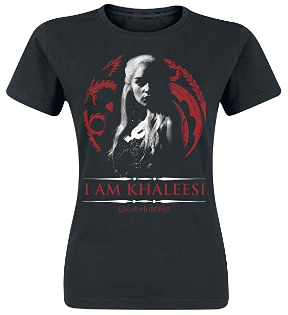 Game of Thrones Daenerys Targaryen - I Am Khaleesi Maglia Donna Nero S