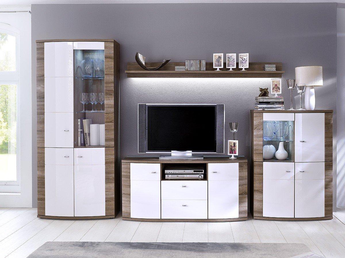 dreams4home wohnwand 39 sunny 39 wohnwand anbauwand wohnzimmerschrank schrankwand tv wand. Black Bedroom Furniture Sets. Home Design Ideas