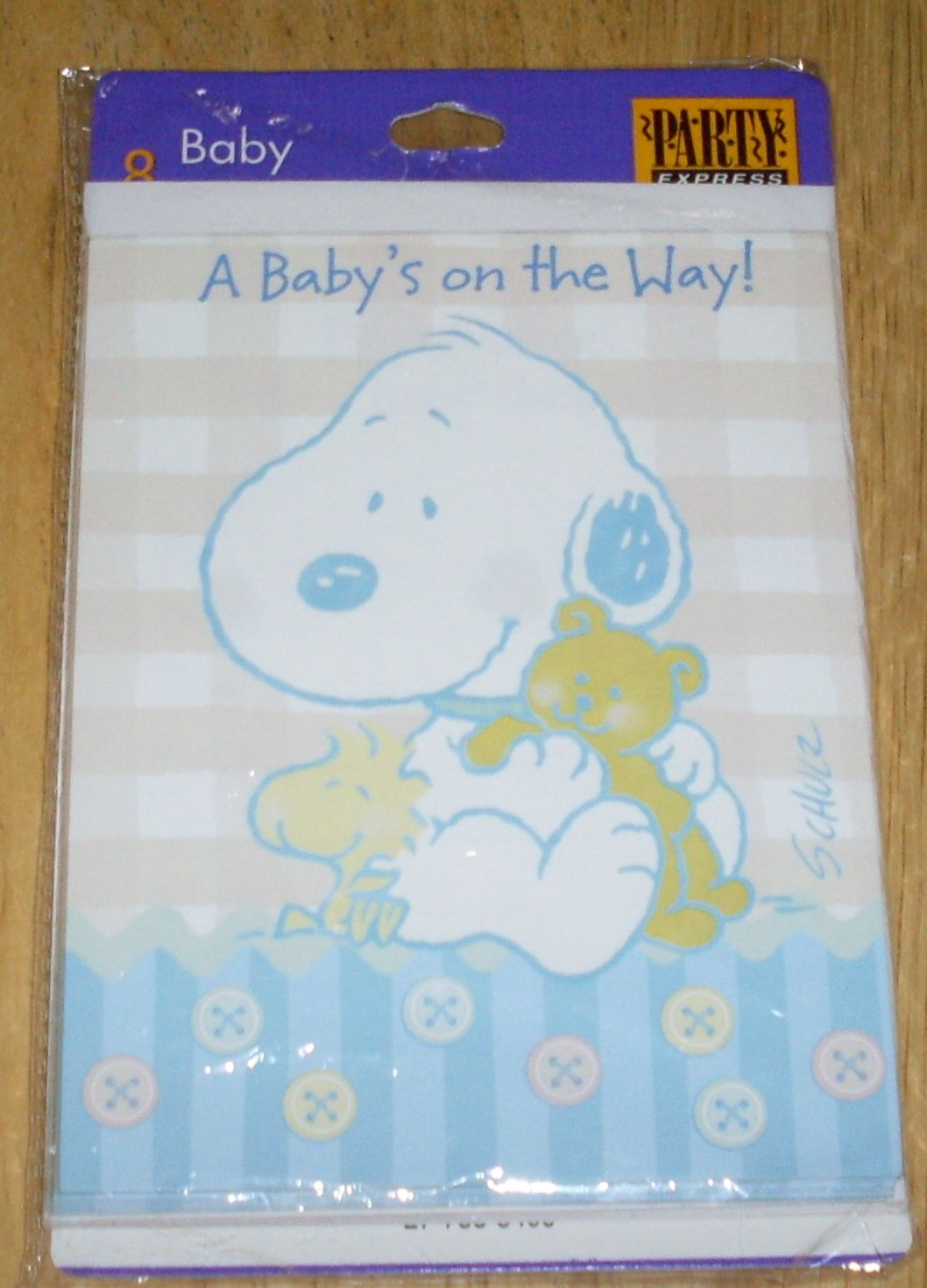 Amazon.com : Peanuts Hallmark Baby Snoopy Baby Shower Invitation ...
