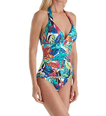 93a65d66b15 Lauren by Ralph Lauren Women's Rainforest Halter Mio One Piece Swimsuit at Amazon  Women's Clothing store: