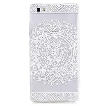 Huawei P8 Lite Funda, CXTcase Flexible Transparente Silicona TPU de Bumper Carcasa Case Ultra Delgado Espalda Case Cover para Huawei P8 Lite Carcasa ...