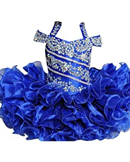 Zhoumei Baby Girls Custom Straps Cupcake Gowns Kids Pageant Dresses