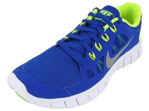 new styles 77111 877e9 Nike Free 5.0 Junior Running Shoes, Blue Yellow, UK5.5  Amazon.co.uk  Shoes    Bags