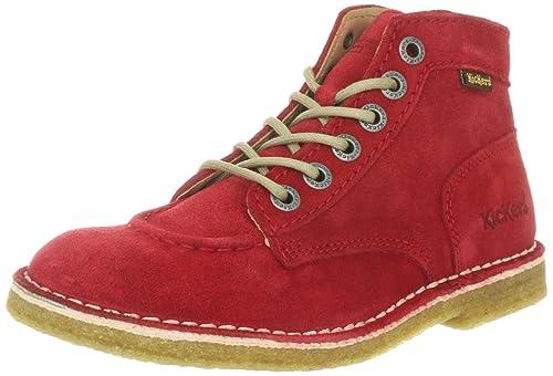 Kickers Kick Legend - Botines clásicos de cuero mujer, color rojo, talla 38: Amazon.es: Zapatos y complementos