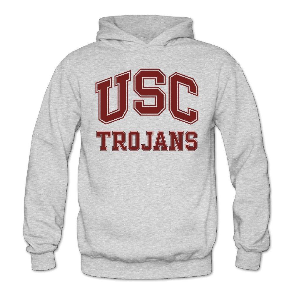 XJBD Women's USC Trojans Logo Geek Hoodies Ash