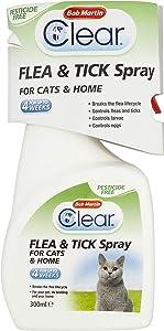 Bob Martin Transparente pulgas y garrapatas Spray para Gatos y hogar, 300ml
