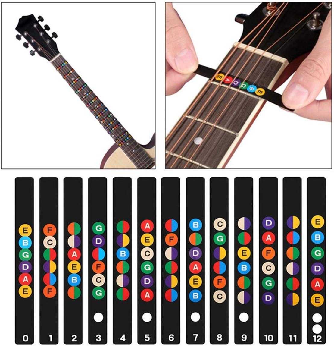 Sunnyflowk Guitarra Escala musical Etiqueta Cuello guitarra ...