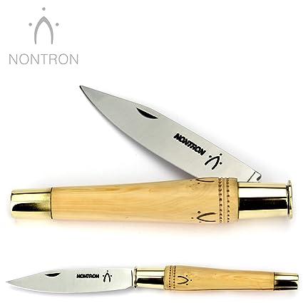Amazon.com: Nontron – Cuchillo de bolsillo francés hecho a ...