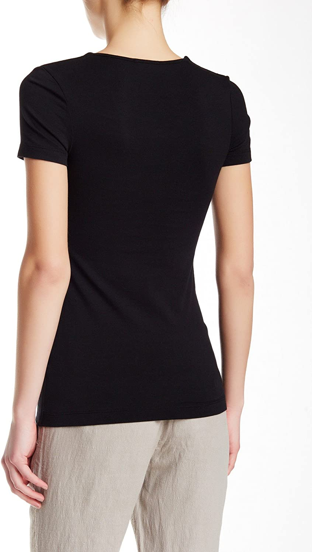 James Perse Black V-Neck Short Sleeve T-Shirt