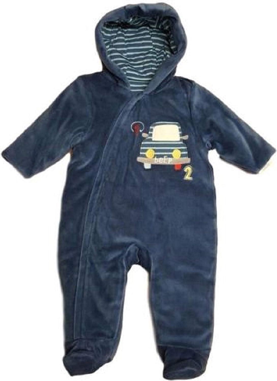 Debranded Baby Boys Velour Pramsuit 3-6 Months