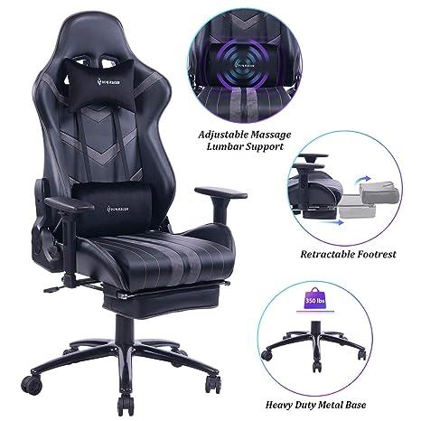 Amazon.com: VON RACER Silla de masaje para juegos, silla de ...