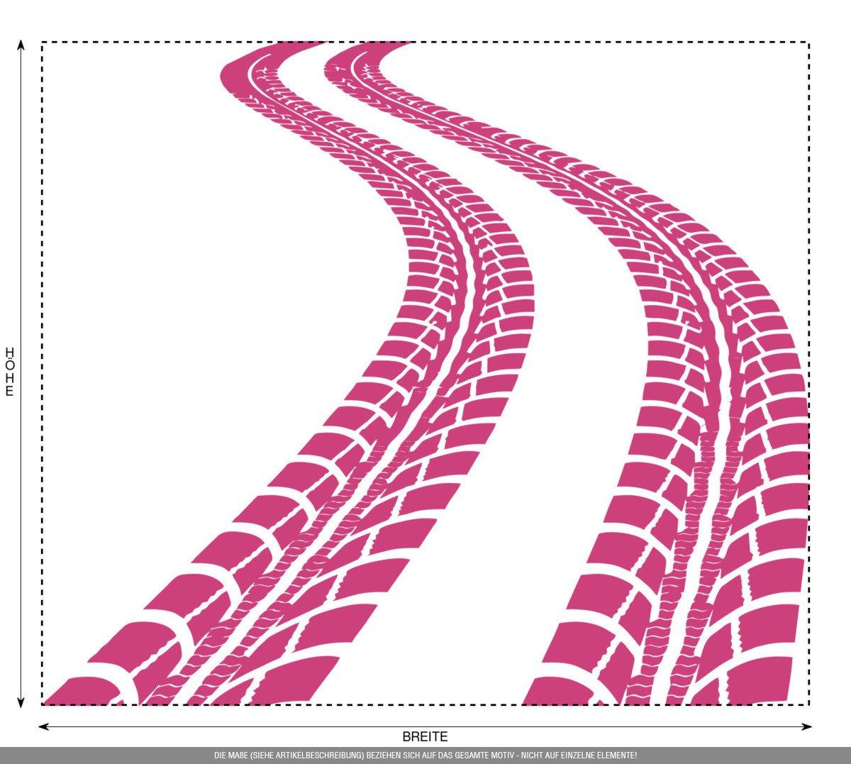 CLICKANDPRINT Aufkleber » Reifen-Spuren, 120x103,7cm, 120x103,7cm, 120x103,7cm, Schwarz • Wandtattoo   Wandaufkleber   Wandsticker   Wanddeko   Vinyl B01MY1S75T Wandtattoos & Wandbilder 4fde2c