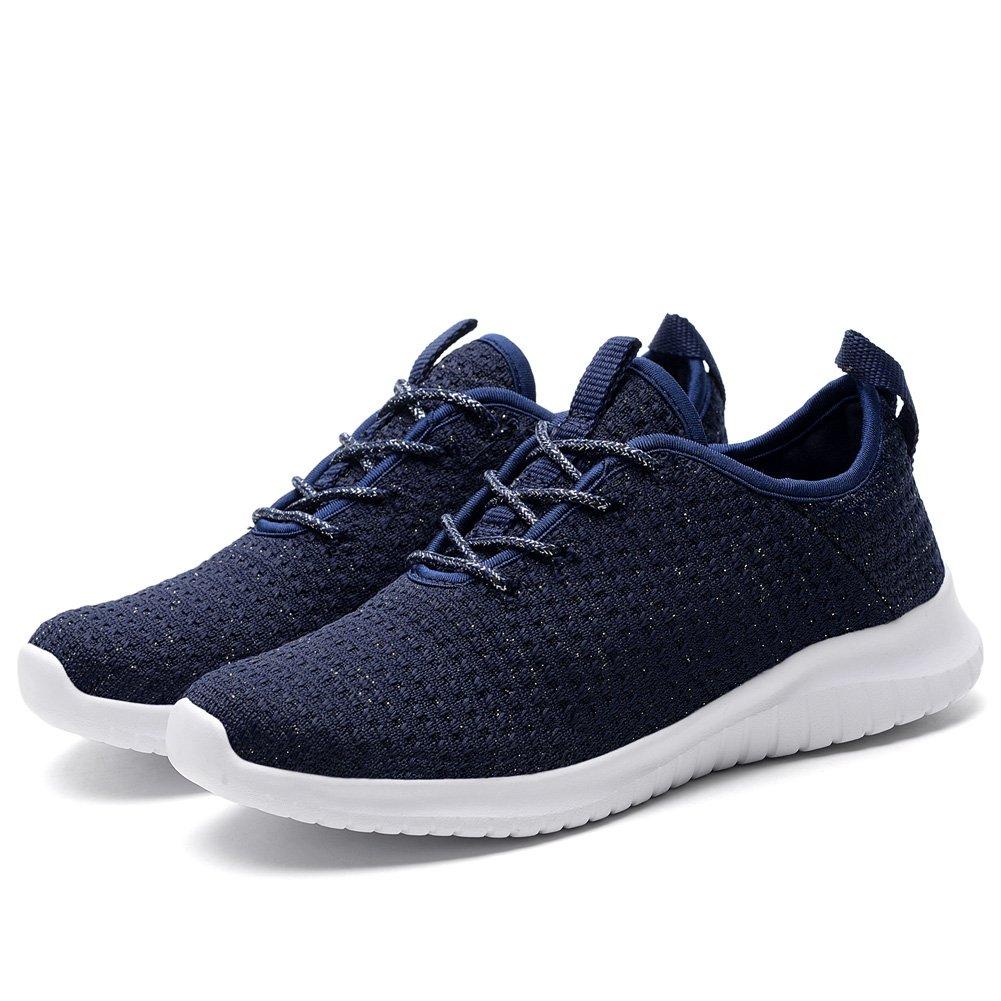 KONHILL Women's Tennis Walking Shoes - Lightweight Casual Athletic Sport Running Sneakers B07F1QPC2R 9.5 M US|2111 Navy