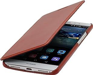 StilGut Book Type sans Clip, Housse en Cuir pour Huawei Mate S, en Cognac