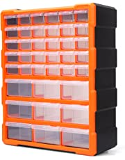 HORUSDY 39 Drawers Storage Cabinet Tool Box Bin Chest Case Plastic Organiser Toolbox