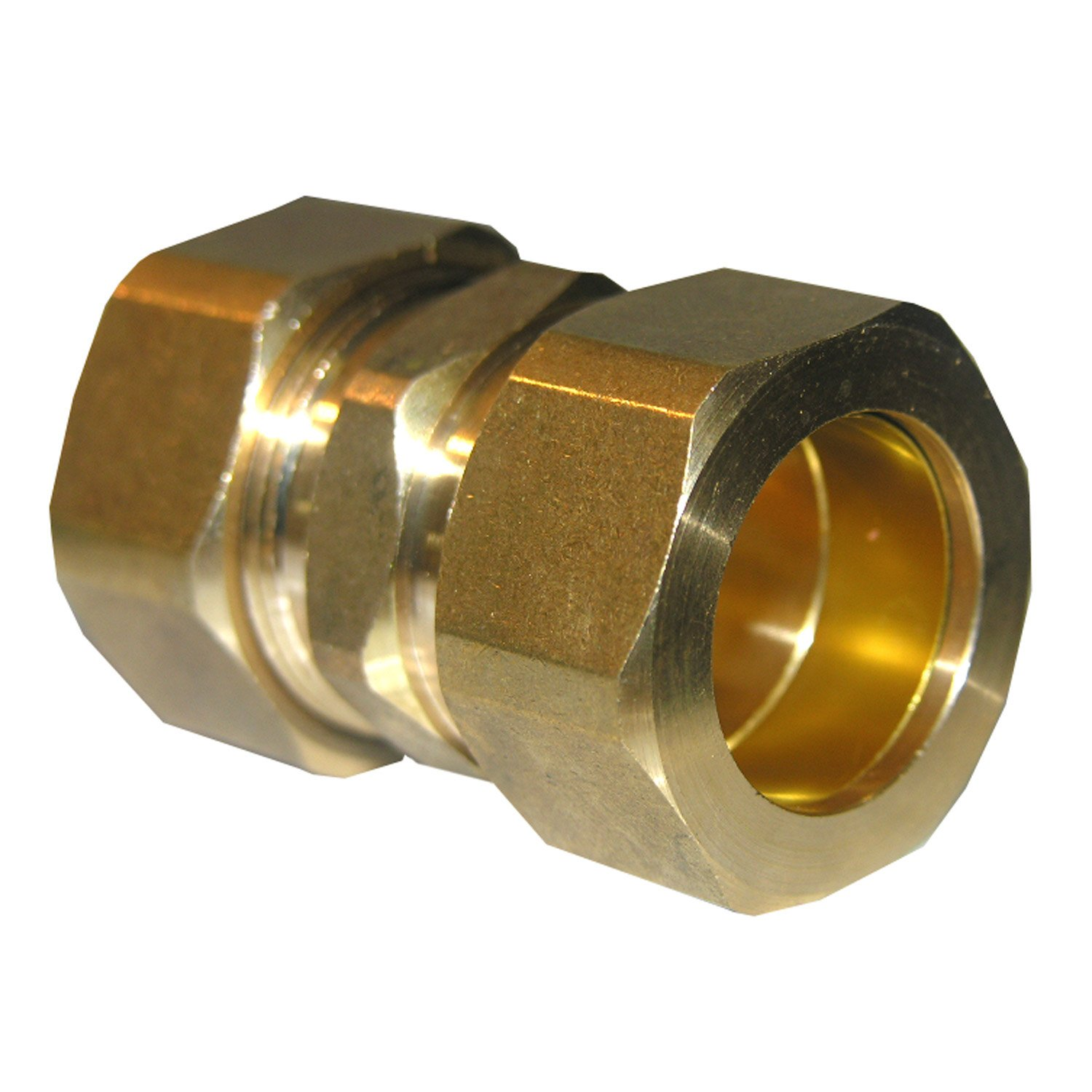 LASCO 17-6273 7/8-Inch Compression Brass Union