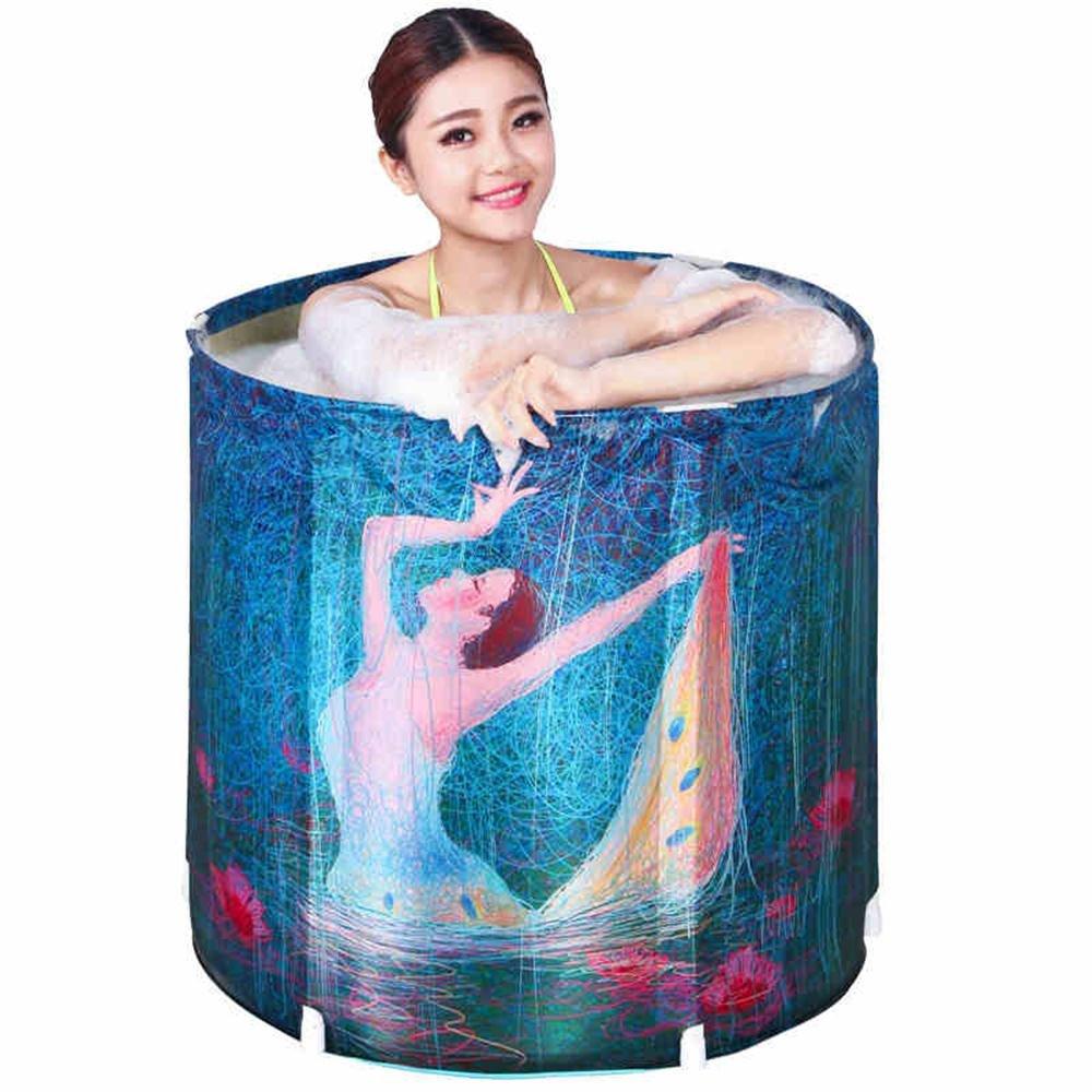 Ali@ Erwachsene Faltbare aufblasbare Badewanne Wanne Bad Bad Aufblasbare Badewanne Dicker Kinder Waschbecken