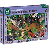 "Mudpuppy Woodland Forest Search and Find Puzzle, 64 Pieces, 23""x15.5"" – for Ages 4-7 - Colorful Illustrations of Animals, Ins"