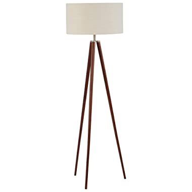 Stone & Beam Modern Tripod Living Room Table Desk Lamp With Light Bulb - 14 x 14 x 27.75 Inches, Ivory