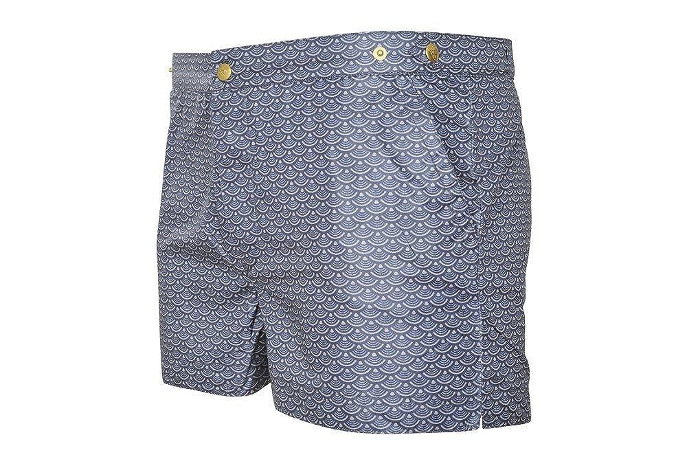 ELEVENTY Badehose Herren Blau Grau Polyethersulfone Slim Fit XXL