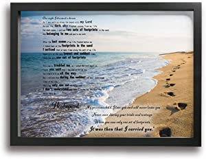 MFHS Footprints in The Sand Canvas Print Picture Photo Frames 12
