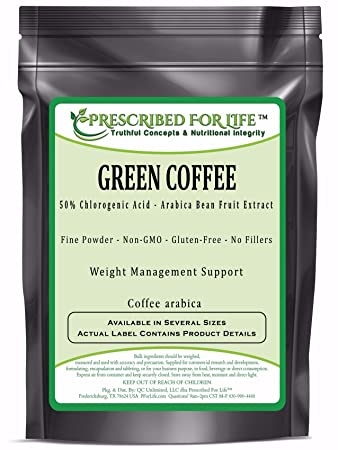 Green Coffee - 50% Chlorogenic Acid - Arabica Bean Fruit Extract Powder (Coffea Arabica), 1 kg