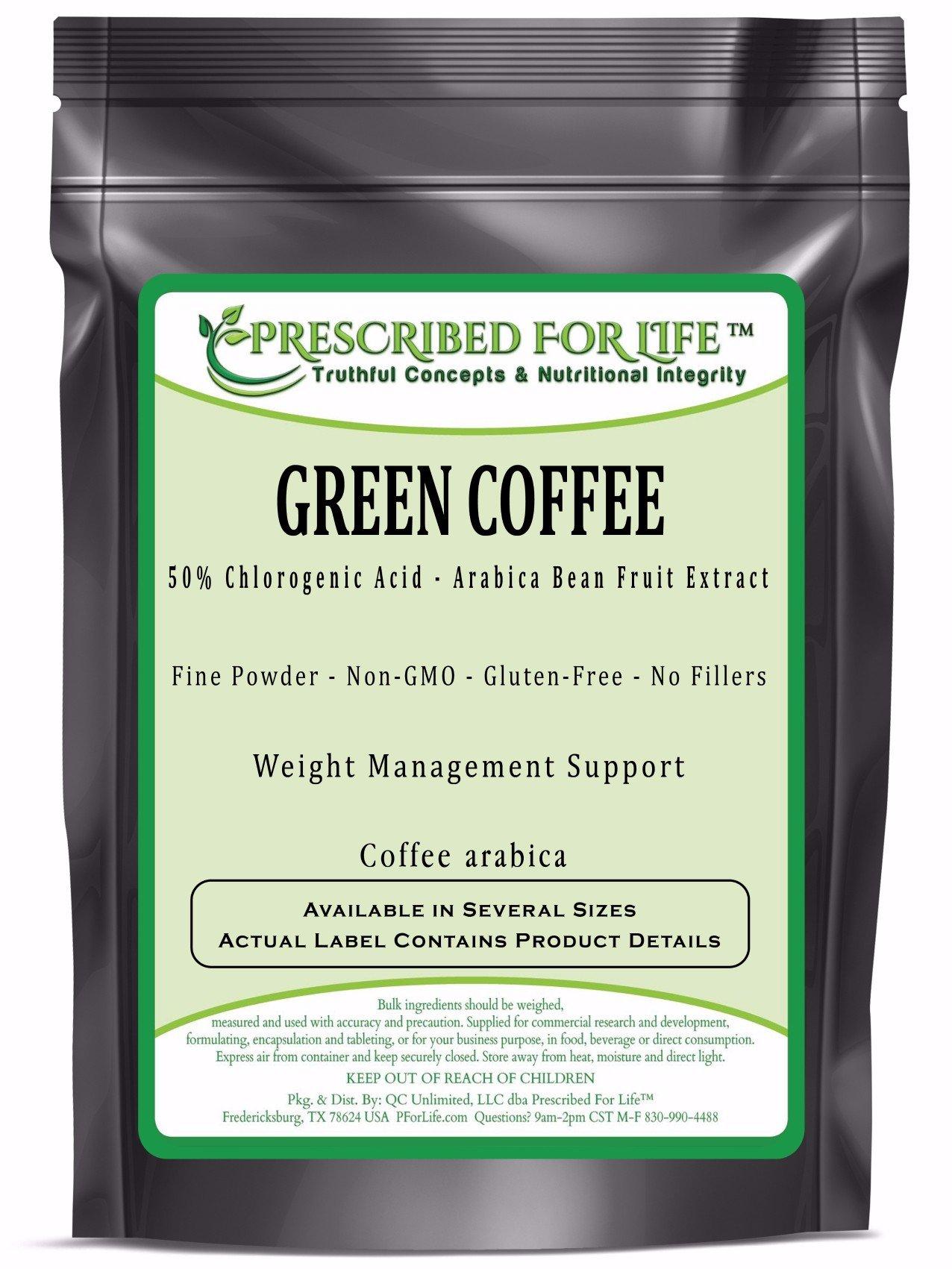 Green Coffee - 50% Chlorogenic Acid - Arabica Bean Fruit Extract Powder (Coffea Arabica), 1 kg by Prescribed For Life (Image #1)