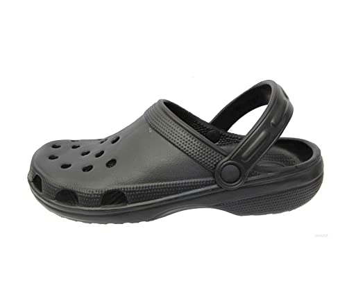 aa6ae382354657 MENS CASUAL CLOGS BEACH SPORT SANDAL GARDEN HOSPITAL NURSING PLASTIC MULES  SLIPPER SHOES Black 7 UK