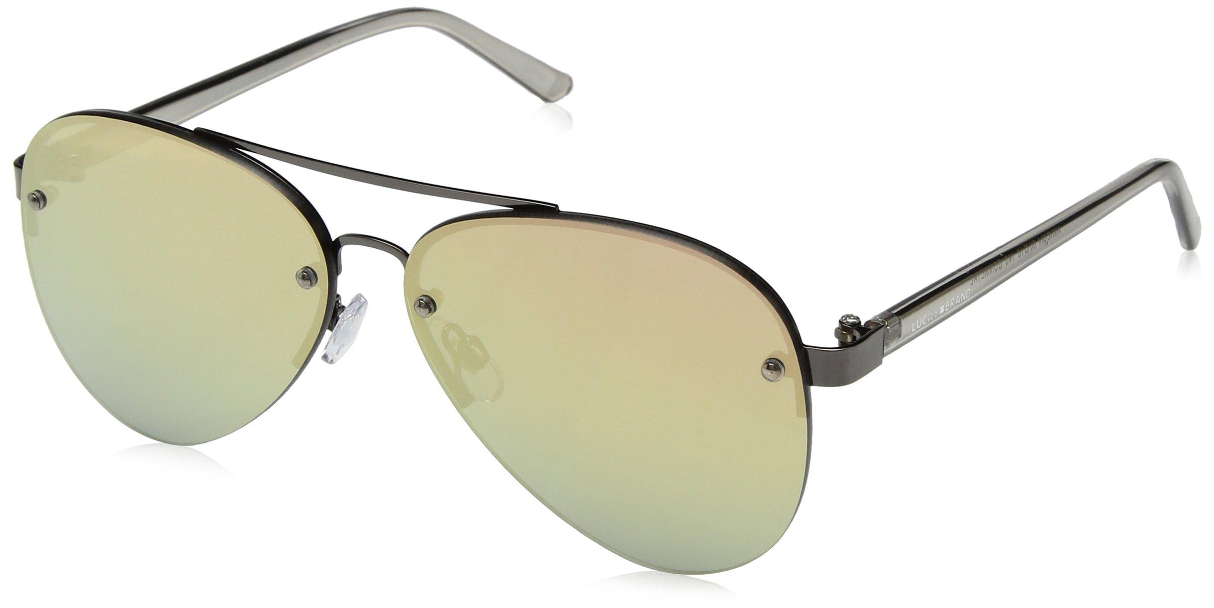 Lucky Avalgun65 Aviator Sunglasses, Gunmetal, 65 mm
