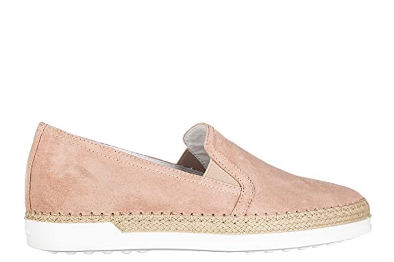 Tod's Damen Xxw0tv0j970lcam610 Beige Wildleder Slip on Sneakers rdwzHaD