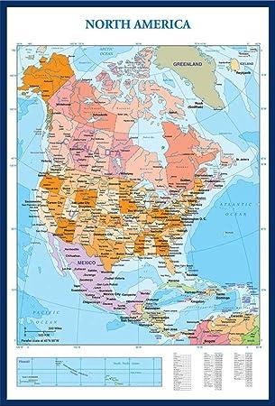 Empireposter Landkarten Landkarten Map Of North America