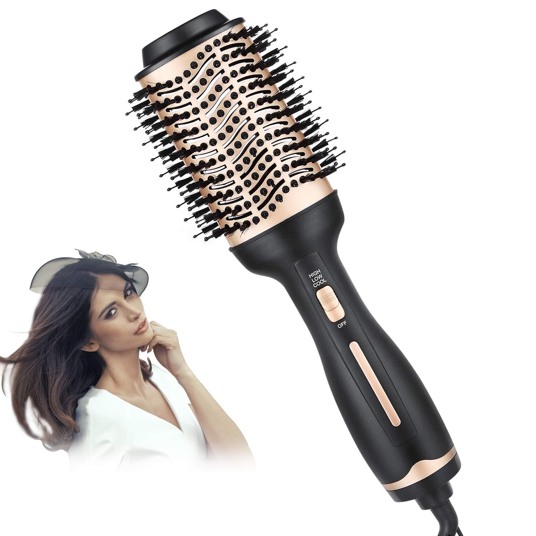 BEAUTIKEN Hair Dryer Brush, Hair Dryer & Volumizer Hot Air Styler Brush, 4 in 1 Multifunctional Blow Dryer Brush, Professional Negative Ion Anti-Frizz Hair Dryer Styler Brush : Beauty
