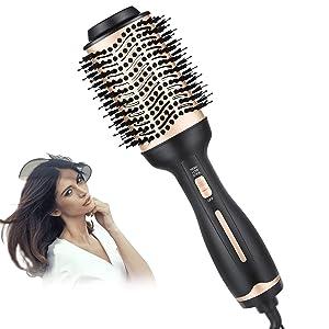 BEAUTIKEN Hair Dryer Brush,One-Step Hair Dryer & Volumizer Hot Air Styler Brush,5 in 1 Multifunctional Blow Dryer Brush, Professional Negative Ion Anti-Frizz Hair Dryer Styler Brush