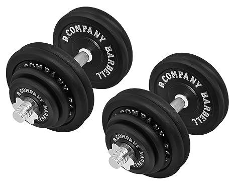 Bad Company - Conjunto de mancuernas de hierro fundido, 60 kg (2 barras de