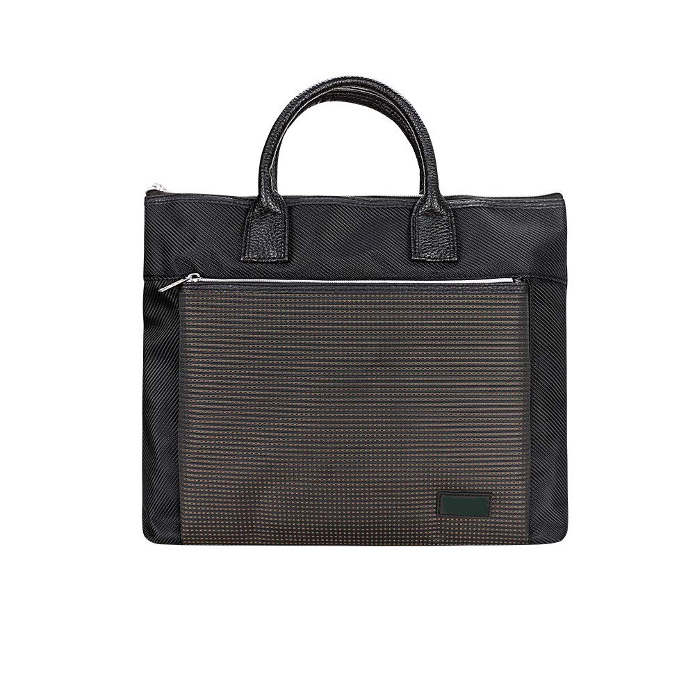 Simple Briefcase Business Paper Bag Conference Bag Multi-Layer Handbag Large Capacity Laptop Bag Zipper Data Storage Bag