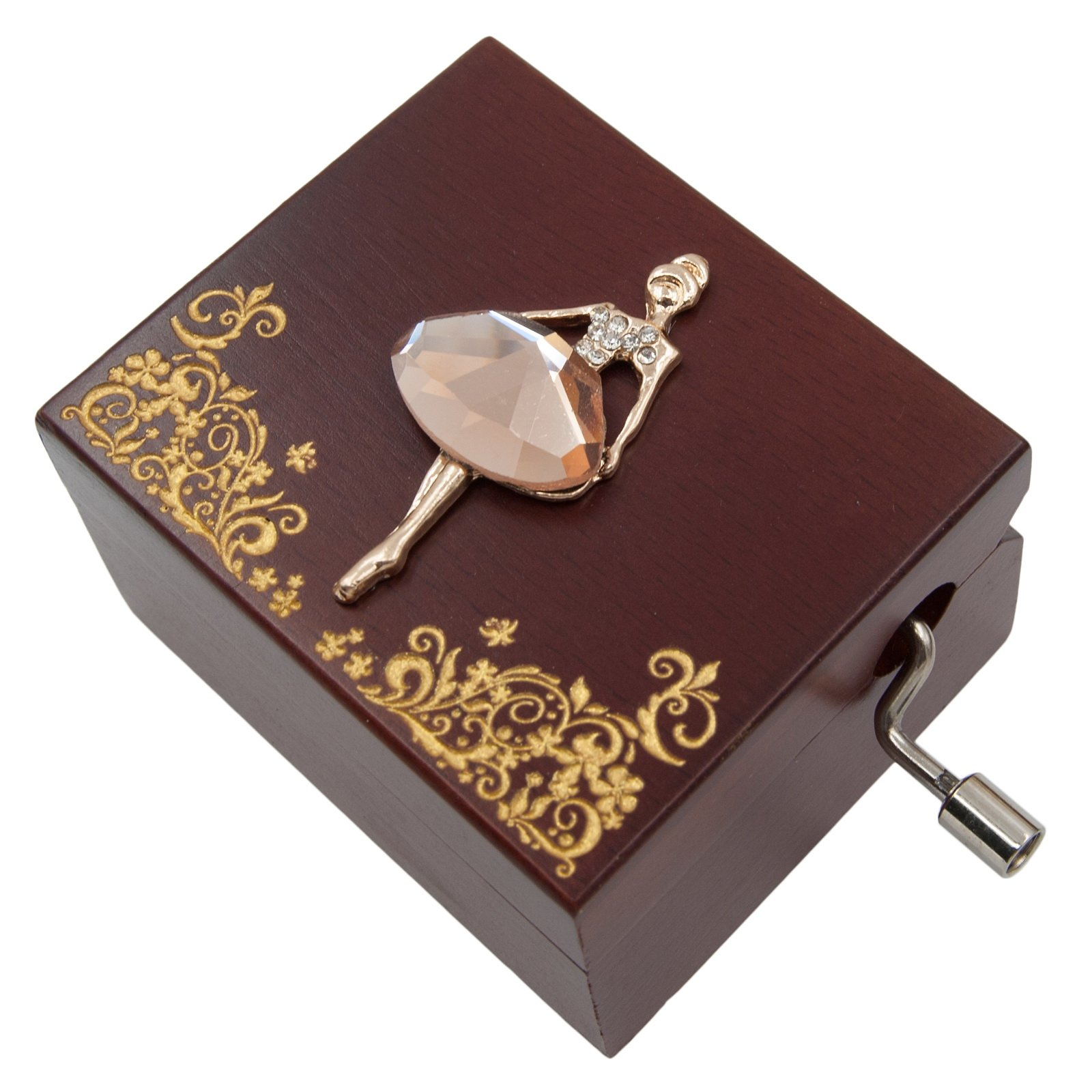 Mini Handcrank Music Box Tune of Happy Birthday(Ballerine)