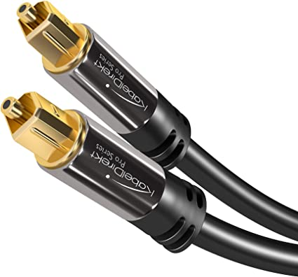 0,5 m gel/ötet HQ Audio Farbe schwarz PremiumCord Optisches Audiokabel Toslink digitales Kabel f/ür Stereo-HiFi-Stable-TV Toslink Plug-on-Stecker