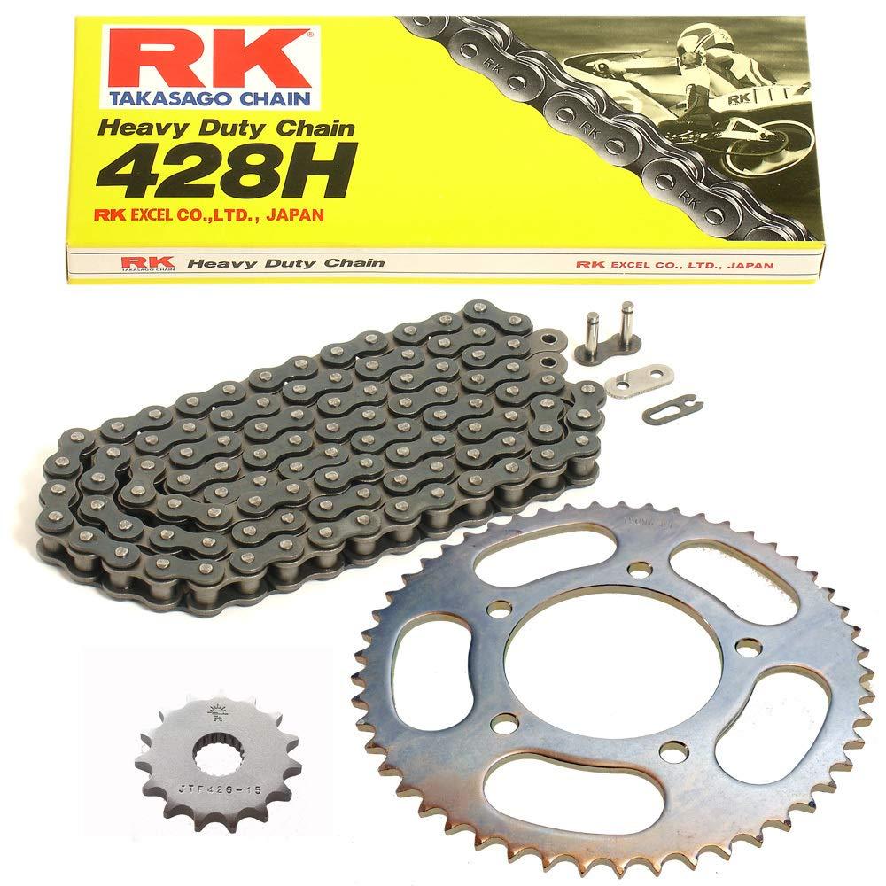Kettensatz geeignet f/ür Kreidler Dice 125 16-18 Kette RK 428 H 136 offen 15//51