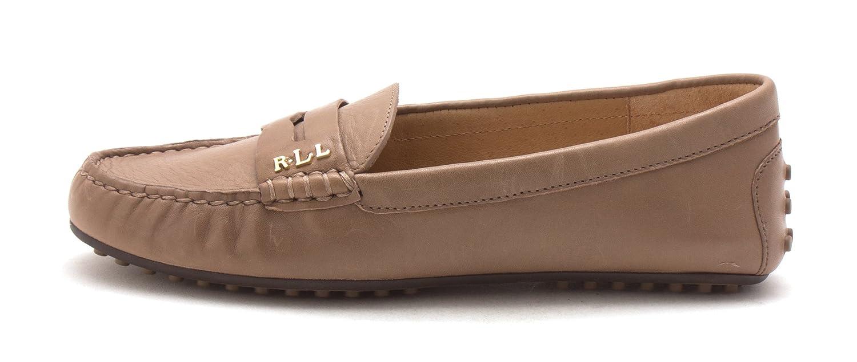Lauren by Ralph Lauren Women's Belen-Fl-C Driving Style Loafer B01GFF9FG8 5.5 M US|Porcini