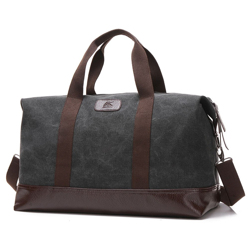 Canvas Duffel Bag, Yousu Vintage Canvas Travel Bag Weekender Bag Overnight Carry on Bags Sports Duffel with Shoulder Strap
