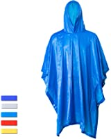 H&C Portable Raincoat Rain Poncho with Hoods and Sleeves