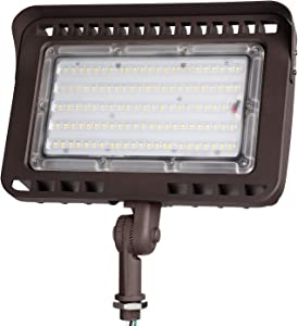 LEONLITE LED Outdoor Flood Light with Knuckle, 100W (1000W Eqv.) 11,000lm Super Bright, ETL Listed Wall Washer Security Light, CRI90+, IP65 Waterproof, 3000K for Yard/Parking Lot