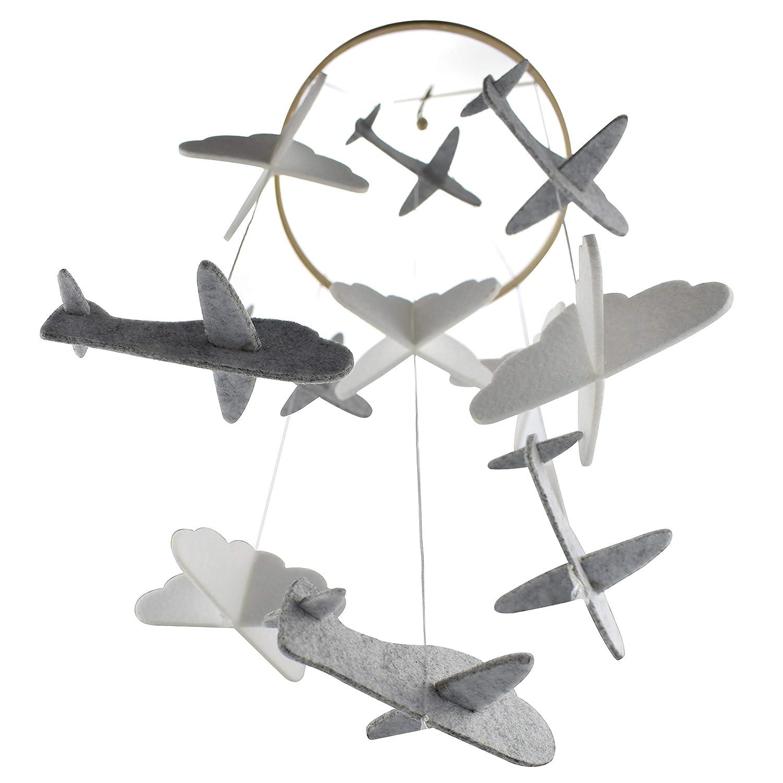 Baby windspiel Bettglocke Mobile Krippe Flugzeug und Cloud Kinderzimmer Dekoration
