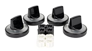 Camco 00943 Gas Range Knobs Top Burner (Black)