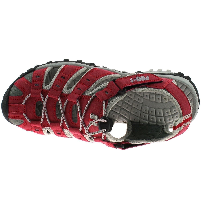 Talla : 37 Pdq Color : Rojo Sandalias Unisex