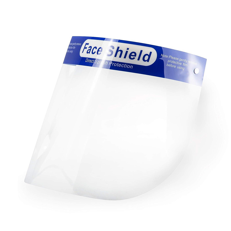 POPP® Pantalla doble Protección Facial Transparente antivaho reutilizables, pack 5PCS 10 PCS 20 PCS 30PCS 50PCS 100 PCS ajustable al rostro completo material PE-188um (Pack 5 PCS)